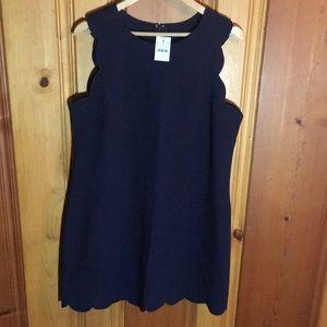 JCrew Factory scalloped dress.